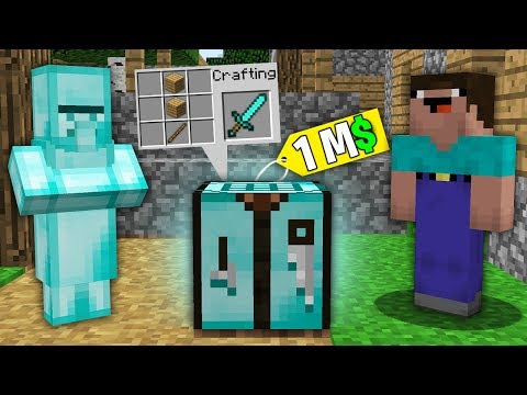 Minecraft NOOB Vs PRO:NOOB BOUGHT THIS DIAMOND CRAFTING TABLE FOR 1.000.000$!Challenge 100% Trolling