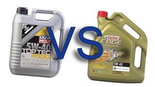 Liqui Moly Top Tec 4100 5W40 vs Castrol EDGE fst Titanium 5W40