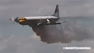 Airdrie Airshow 2013 Part II: Lockheed L-188 Electra Water Bomber (HD)