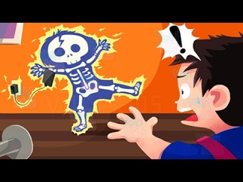 Safety for Kid Electric Shock -  Learn How to Care of Electrical Injuries - Education Cartoon Game