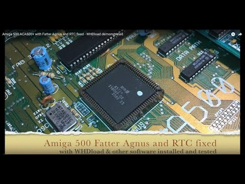 Amiga 500 ACA500+ with Fatter Agnus and RTC fixed - WHDload demonstrated