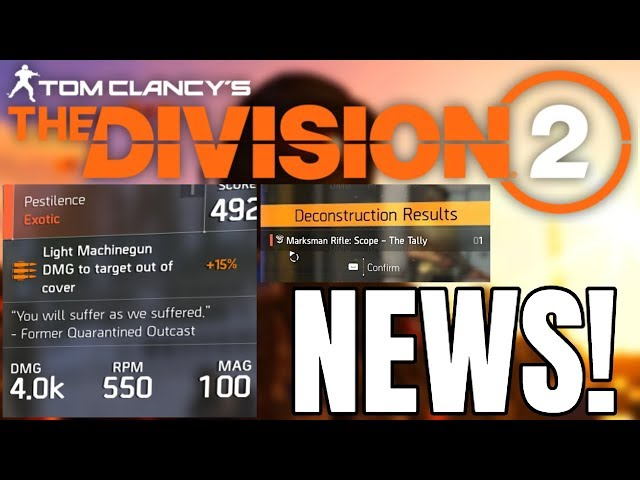 ▷ Division 2 PATCH NOTES update: Here we have the complete List
