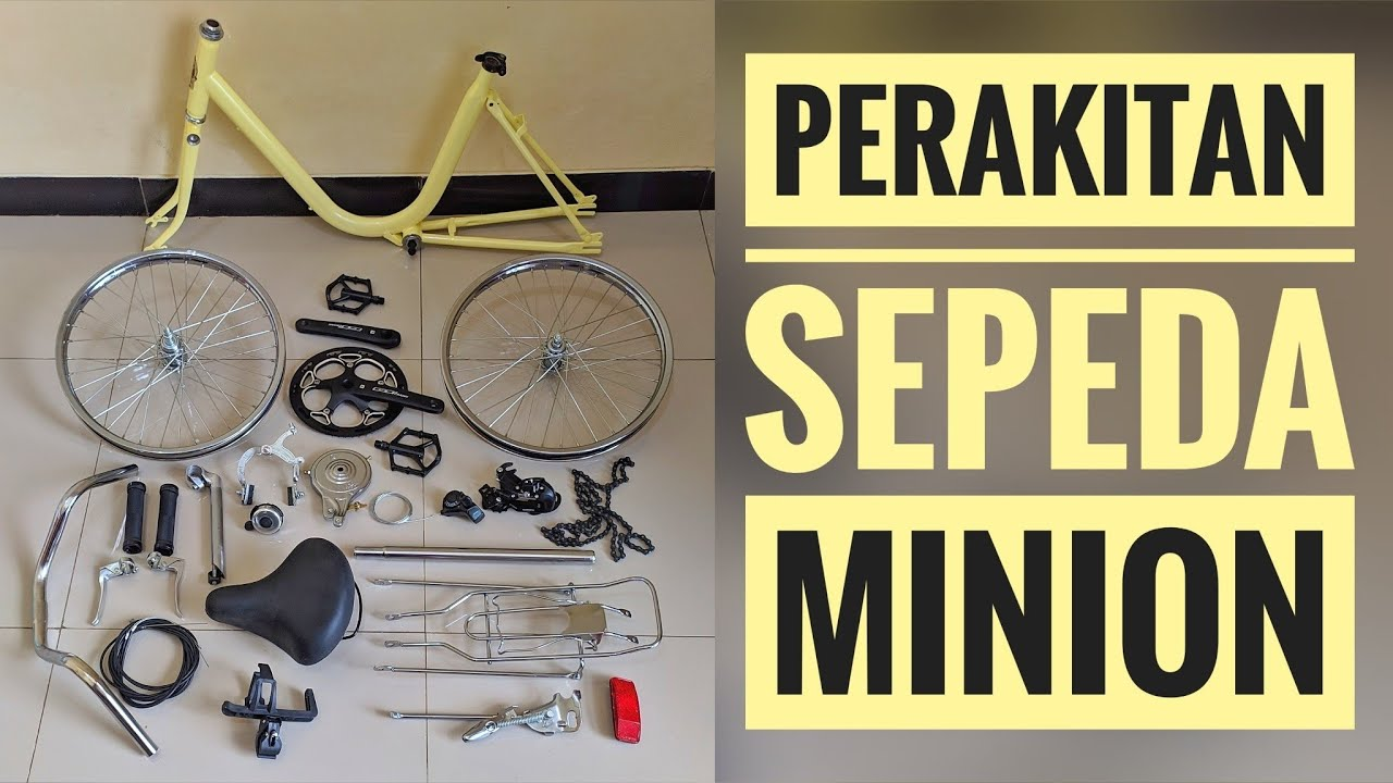 Merakit Sepeda Minion Modif Sepeda Mini Jadul Viral Minitrek Youtube