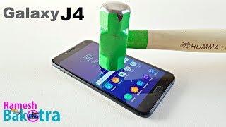 Samsung Galaxy J4 Screen Scratch Test
