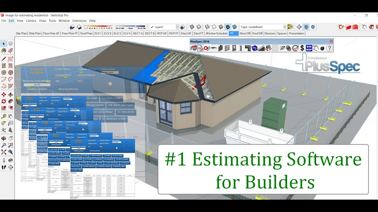 Easy estimating software for residential builders in 3d for 3d home builder software