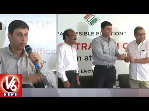 Telangana Election Commission CEO Rajat Kumar Participate In Voter Registration Campaign | V6 News