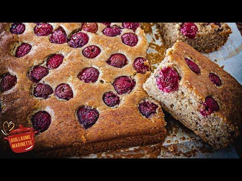 gâteau-healthy-cerise-et-banane,-comment-faire-?-recette-facile-et-rapide