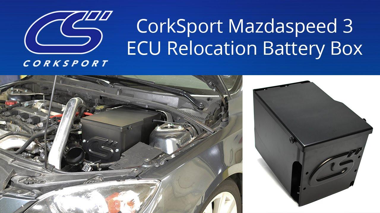corksport mazdaspeed 3 ecu relocation battery box youtube rh youtube com