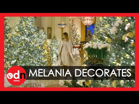 Melania Trump Inspects White House Christmas Decorations in New Video