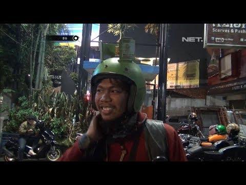 Lucunya Pengendara Ini Memakai Helm Model Gas Saat Kopdar