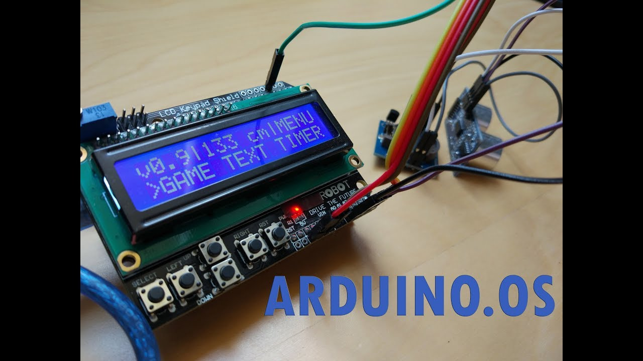 Arduino os functional operating system on youtube