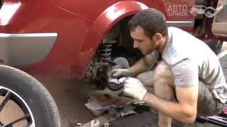 Замена задних тормозных дисков на Renault Megane II