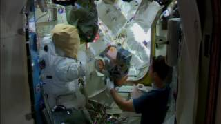Preparing for a spacewalk