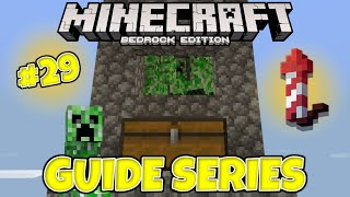 HOW TO BUILD A AFK CREEPER FARM! Minecraft Bedrock Guide Series Ep.29 [Lets Play 1.16]