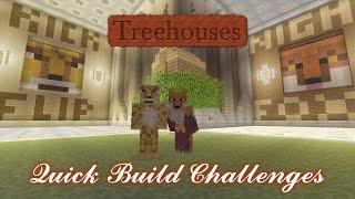 Minecraft Xbox- Quick Build Challenge- Treehouse {1}