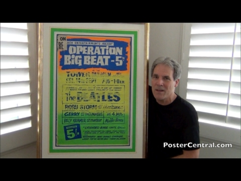 Beatles 1962 Concert Poster Operation Big Beat Five in England Pt. 1