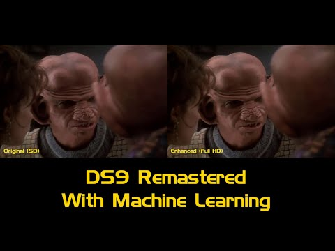 Deep Space 9 remastered with deep learning