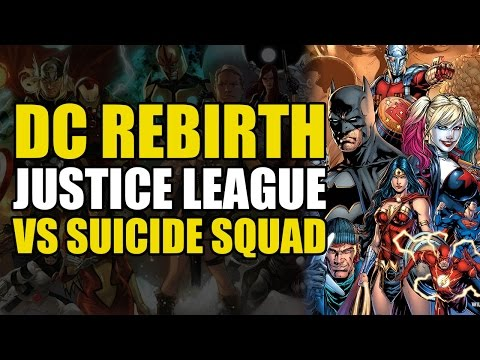 The Justice League vs The Suicide Squad (DC Rebirth)