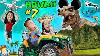 HAWAII! Dinosaur Wheeling ATV Tour @ Kualoa Ranch FUNnel V Fam Disney Aulani Trip Pt 7