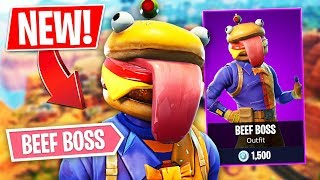 NEW EPIC BEEF BOSS SKIN!! *Pro Fortnite Player* // 1,300 Wins (Fortnite Battle Royale)
