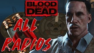 HOW THE BLOOD VIALS WORK! All Blood of The Dead Radios (Maxis & Warden Radios)