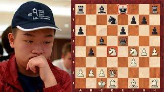 Crazy chess game! Absolutely briliant tactics! : Wei Yi vs Zhou Jianchao : 4th Danzhou (2013)