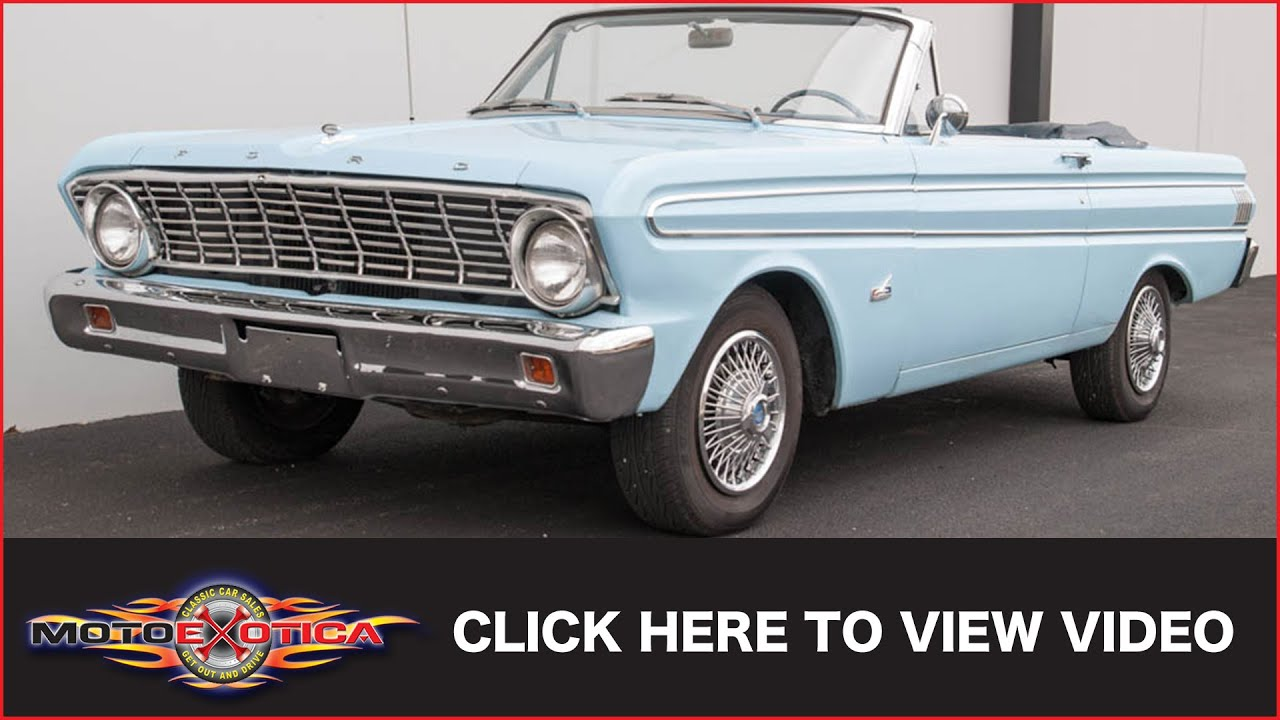 1964 Ford Falcon Sprint V8 Convertible Sold Youtube Futura