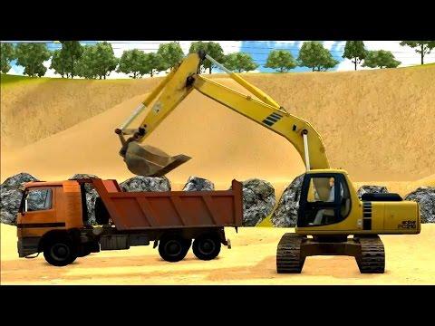 Excavator Game : เกมส์ รถแม็คโคร ตักดิน ใส่รถ สิบล้อ รถบรรทุก