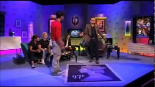 Zayn Malik dancing on Alan Carr Show