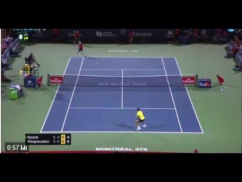 Highlight ATP MONTREAL 2017 Rafael Nadal vs Denis Shapovalov: Denis Shapovalov knockout  R. Nadal