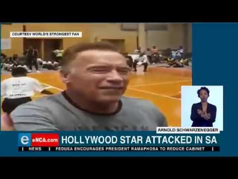 Mark - Schwarzeneggar assaulted on a trip to Johannesburg but won't press charges