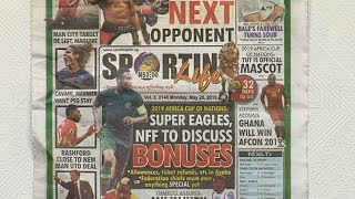 Super Eagles NFF To Discuss Bonuses |Sports This Morning|