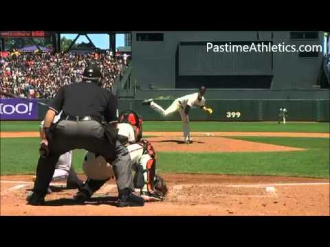 Matt Cain NASTY CURVEBALL Slow Motion Strike Out Baseball Pitching Mechanics Giants MLB Video Clip T