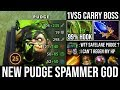 NEW Pudge Spammer God!!! Beautiful 99% Hooked Raid Boss 1Vs5 Carry with Octarine + Scepter DotA 2