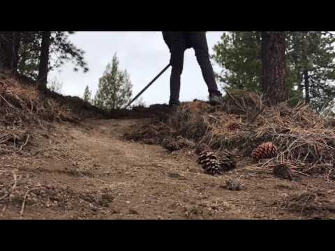 Building a mountain bike jump line