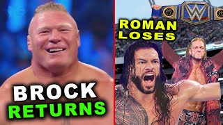 Roman Reigns Loses Universal Title to Edge Brock Lesnar Returns WWE News Rumors February 2021