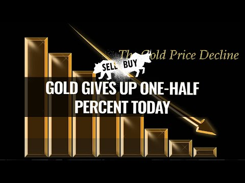 Gold gives up one-half percent today - 04/22/2021