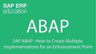 SAP ABAP : het Maken van Meerdere Implementaties voor een Verbetering Punt