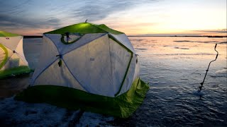 Зимняя рыбалка с ночевкой Дом на льду