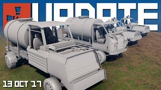 One of SHADOWFRAX's most viewed videos: New modular cars and Blueprint balancing | Rust update 13th October 2017