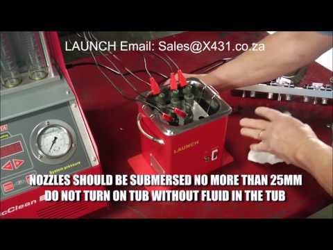 LAUNCH CNC602A- Ultrasonic Petrol Injector Cleaner and Cleaner