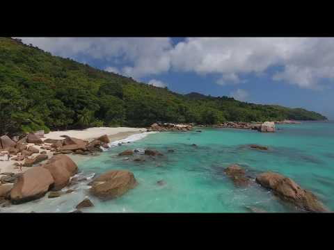 Anse Lazio Praslin DJI Phantom 4 Seychelles 4K