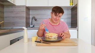 Слоеный Салат Мимоза с филе. Как приготовить салат Мимоза.
