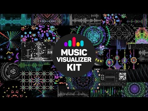 Music Visualizer Kit After Effects template