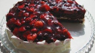 Обалденно Вкусный  Торт с Ягодами / Красивый и очень простой  в приготовлении