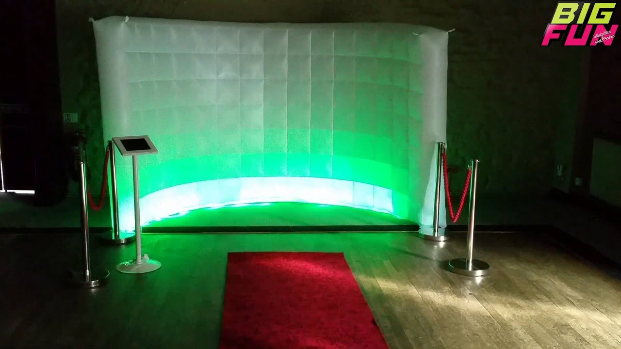 Inflatable LED Wall (Photobooth) www.bigfuninflatables.co ...