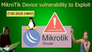 MikroTik Device Vulnerability to 𝙀𝙭𝙥𝙡𝙤𝙞𝙩 (CVE-2018-14847)🔥🔥 -  YouTube