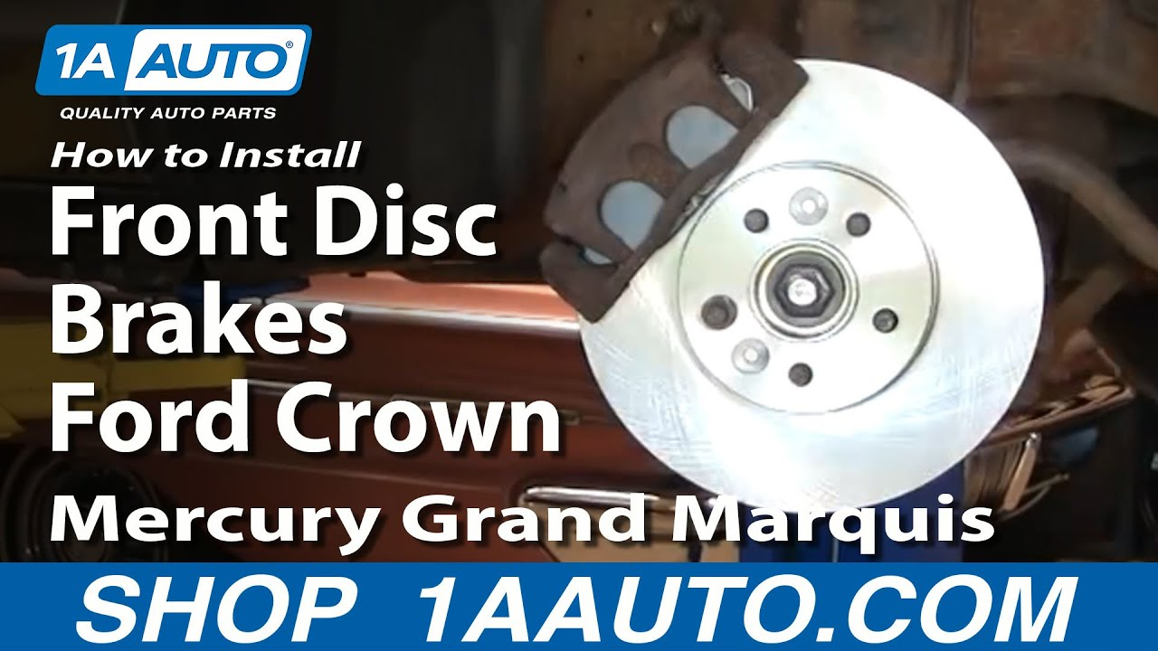 How To Install Replace Front Disc Brakes Ford Crown ...