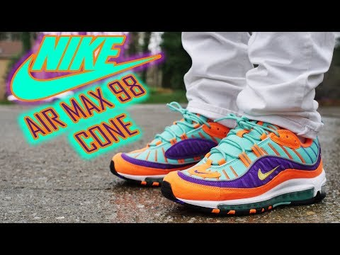 7bedaa25eeea My First Pair Of Nike AIR MAX 98 CONE QS aka Rugrats 4k Review