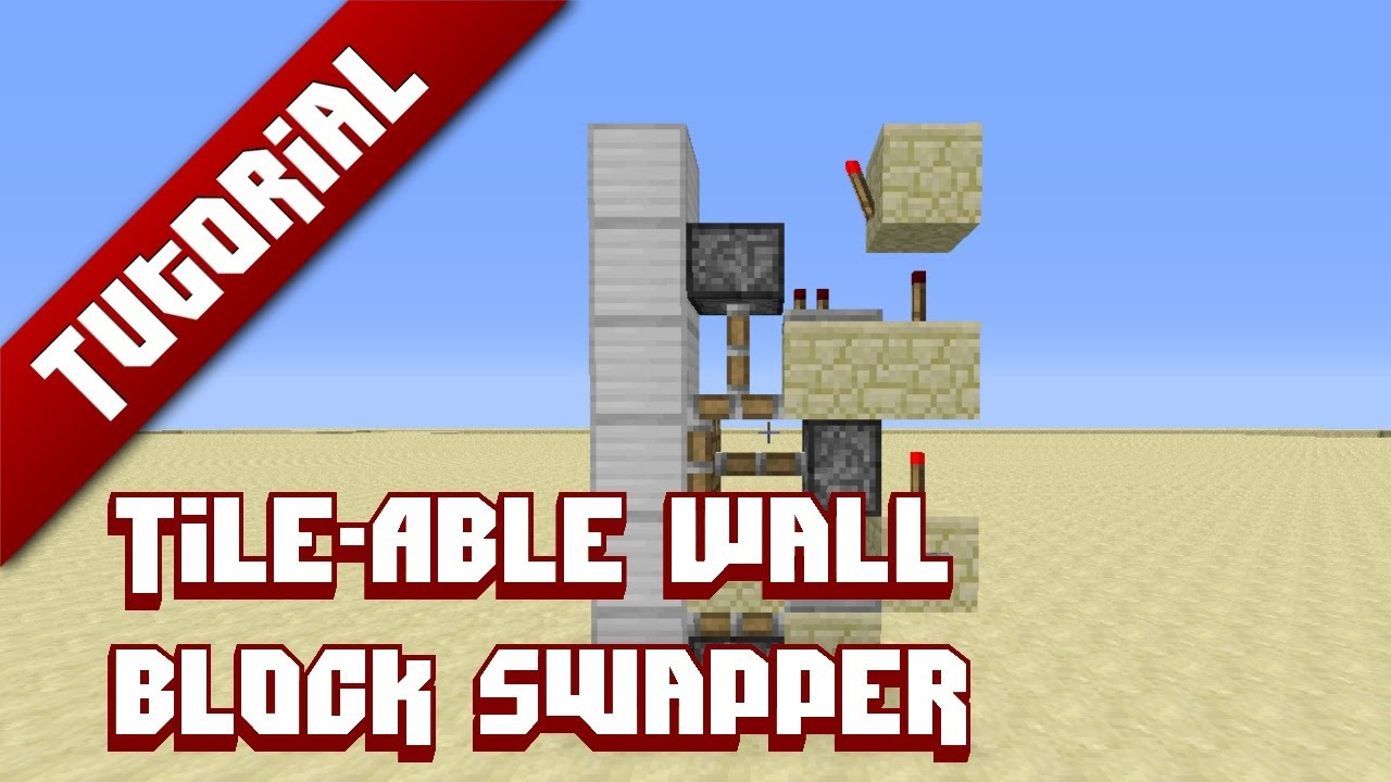 Minecraft Tutorial Tile Able Wall Block Swapper Youtube